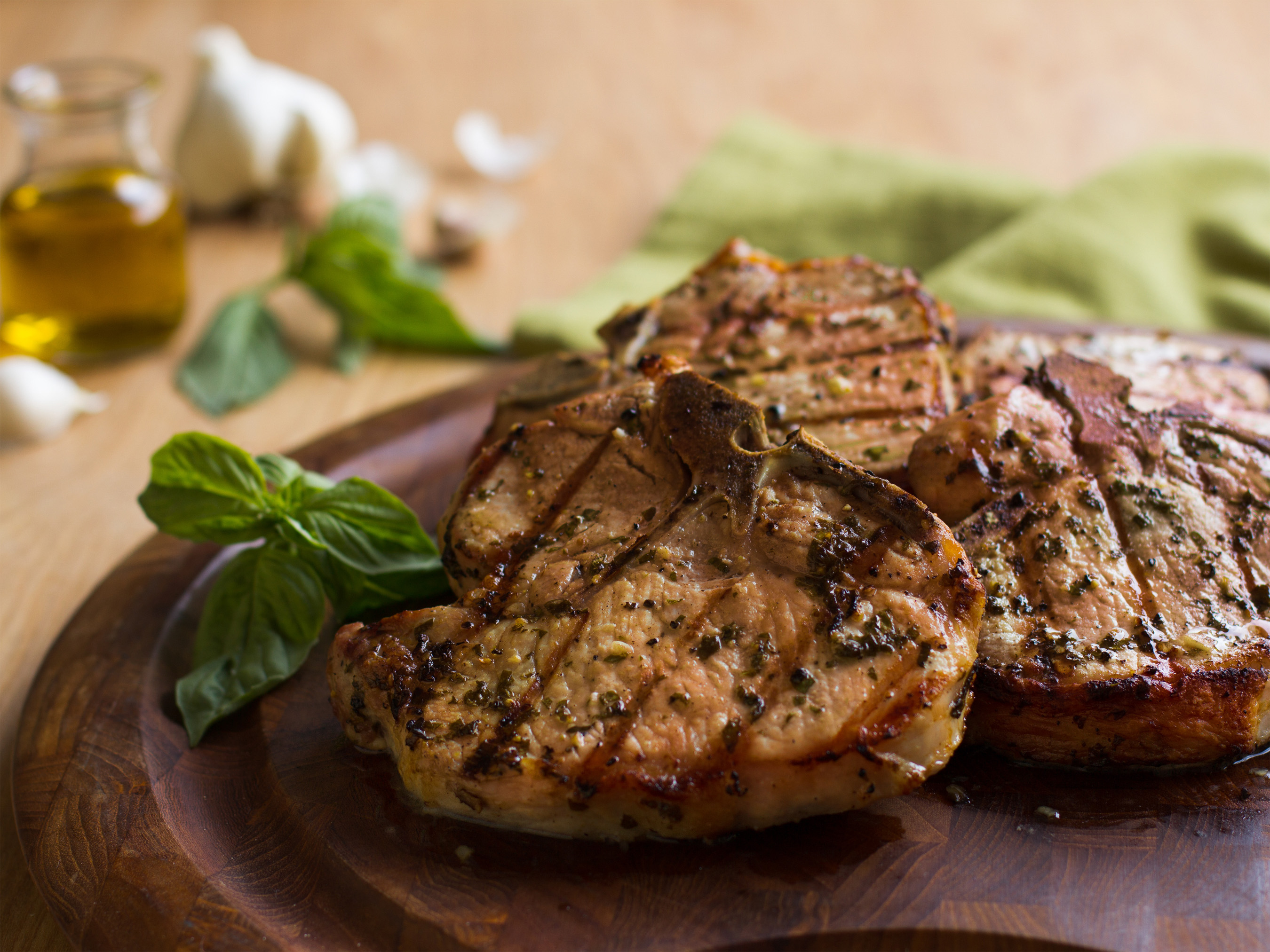 Pork chop recipes garlic