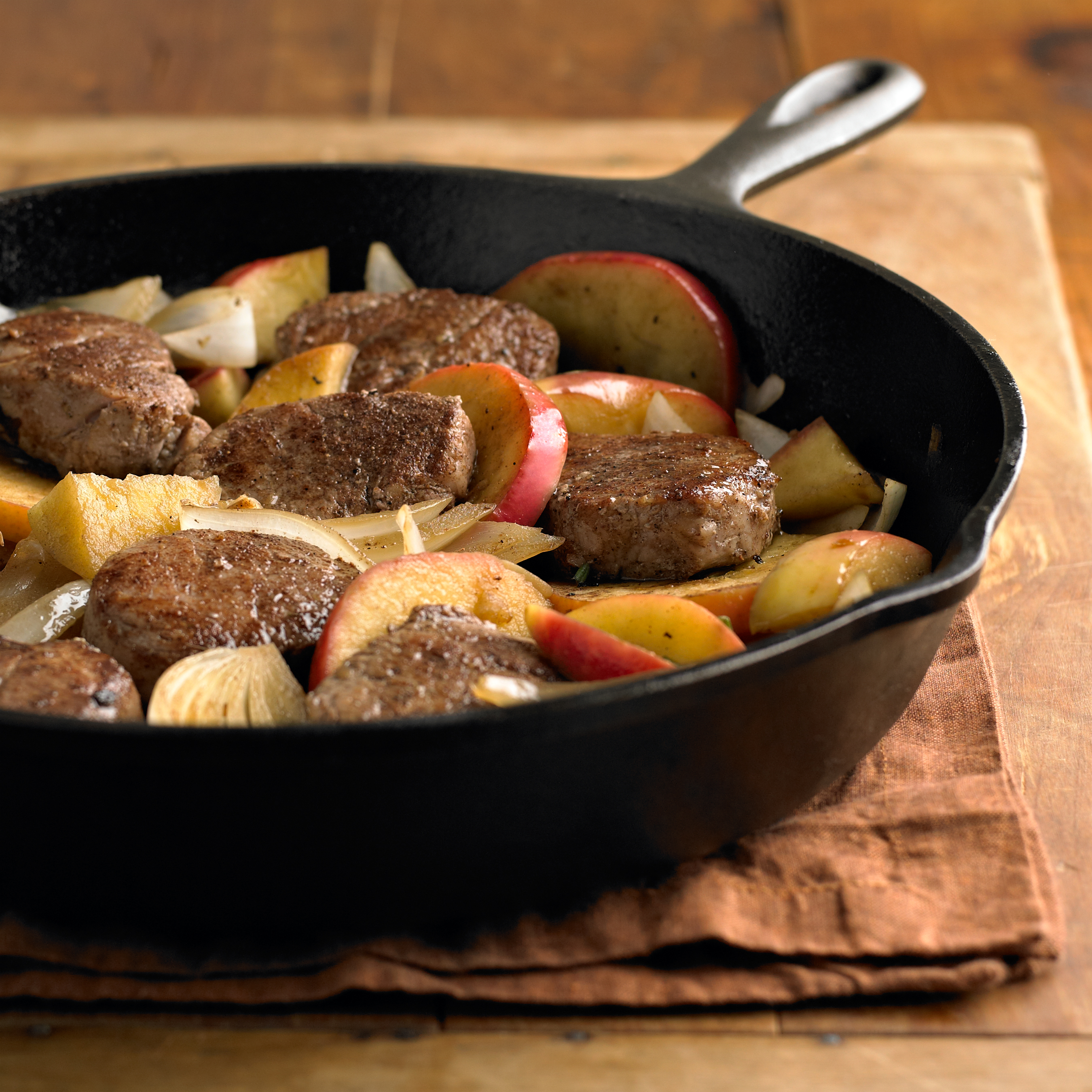 Braised Pork Medallions with Apples - Pork Recipes - Pork ...