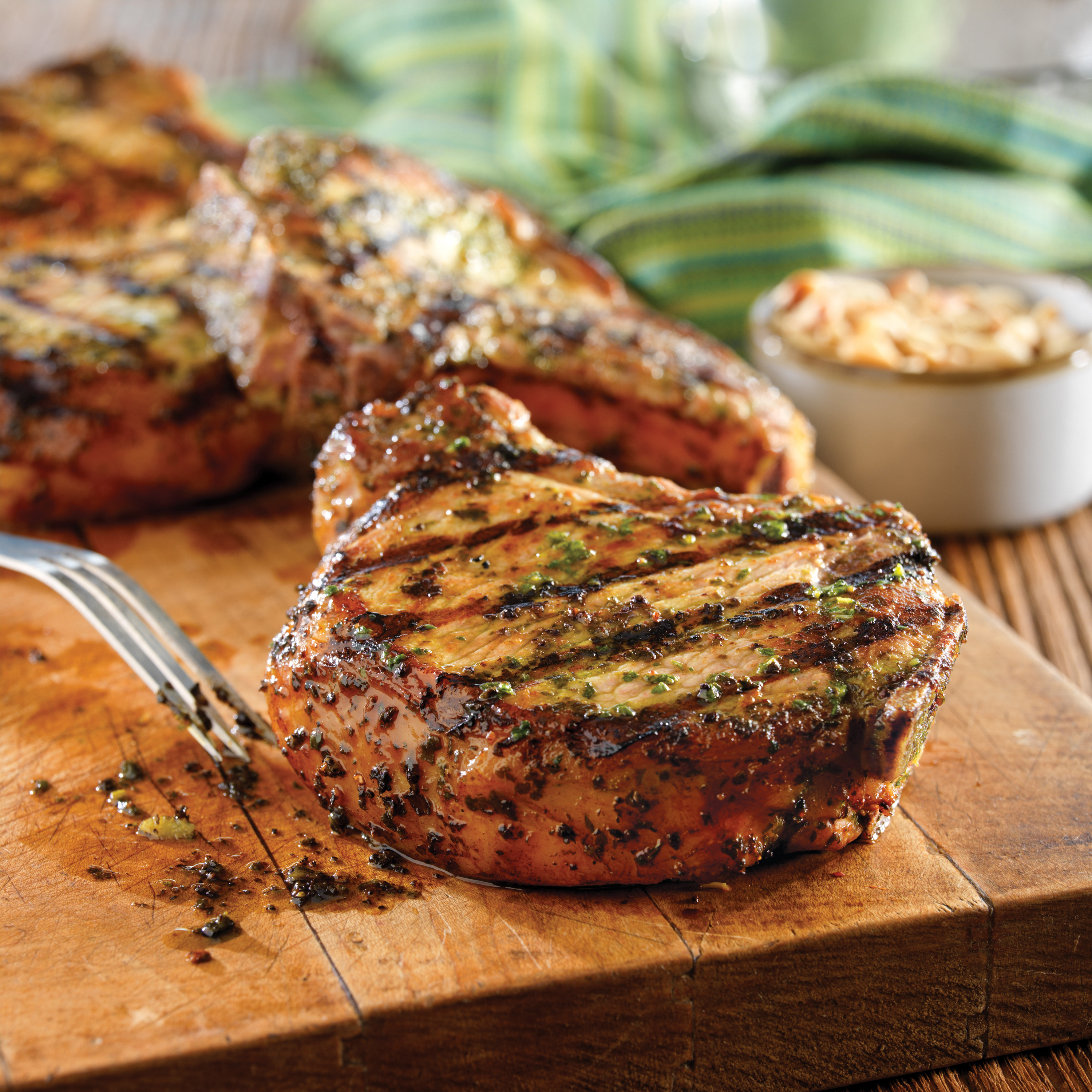 Grilled pork chops with basil garlic rub pork recipes pork be grilled pork chops with basil garlic rub ccuart Image collections