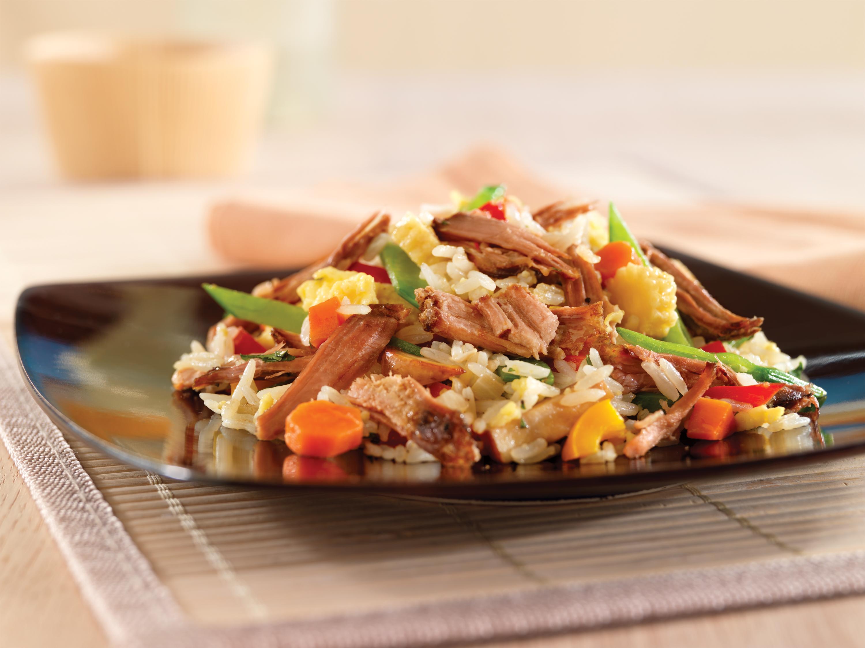Fried rice and pork recipes