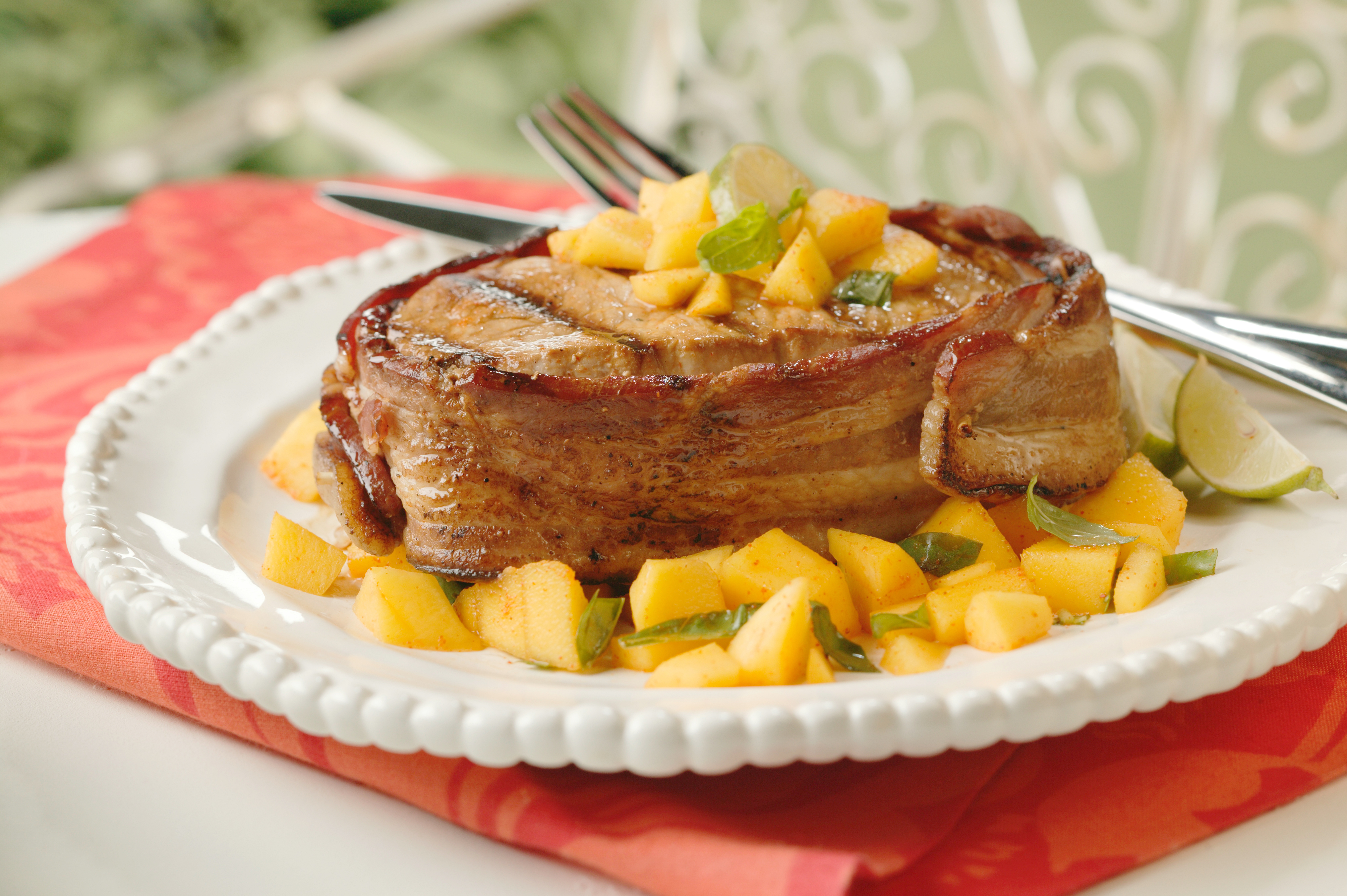 Pork chops wrapped in bacon recipes