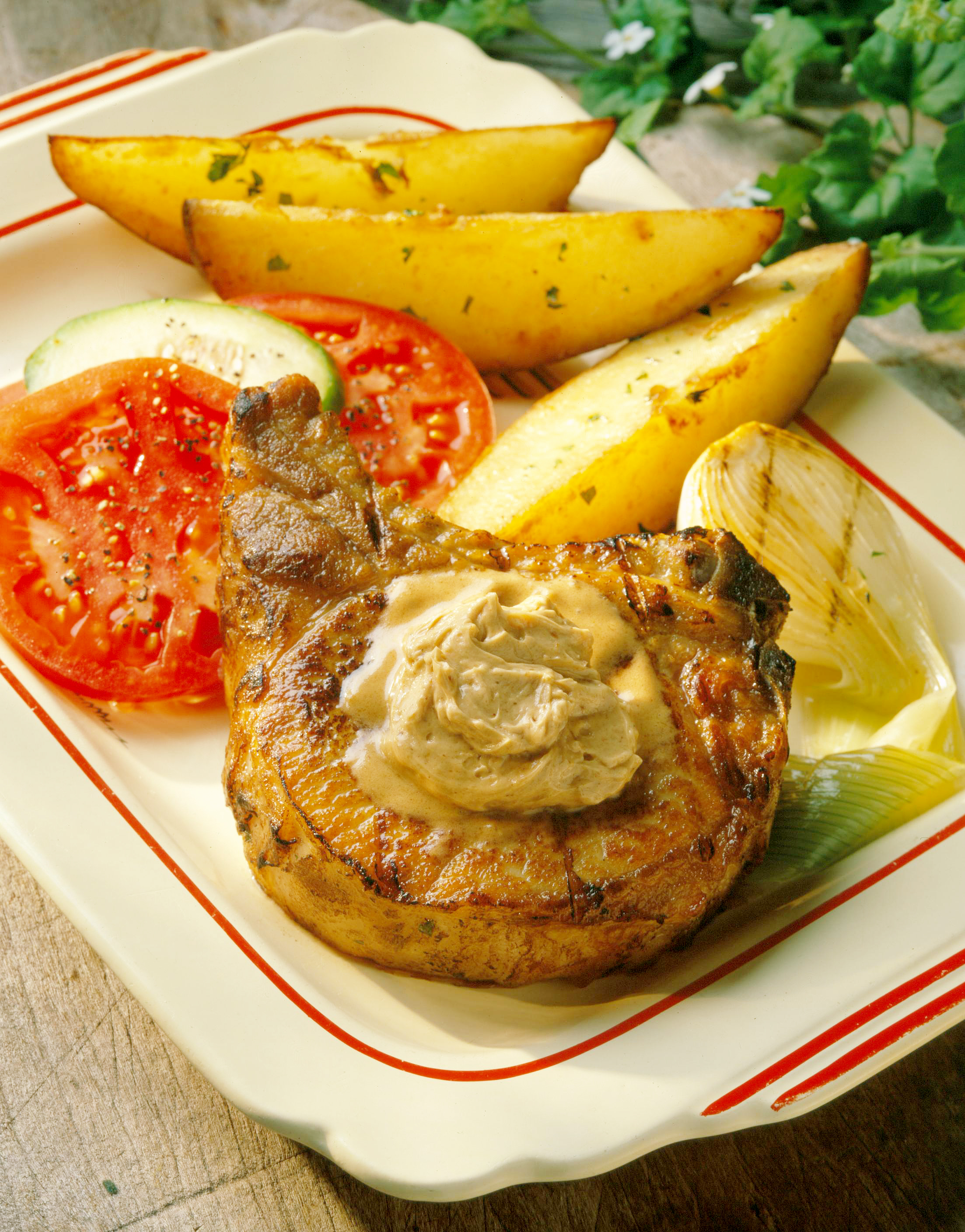 Dad S Grilled Pork Chops With Savory Steak Butter
