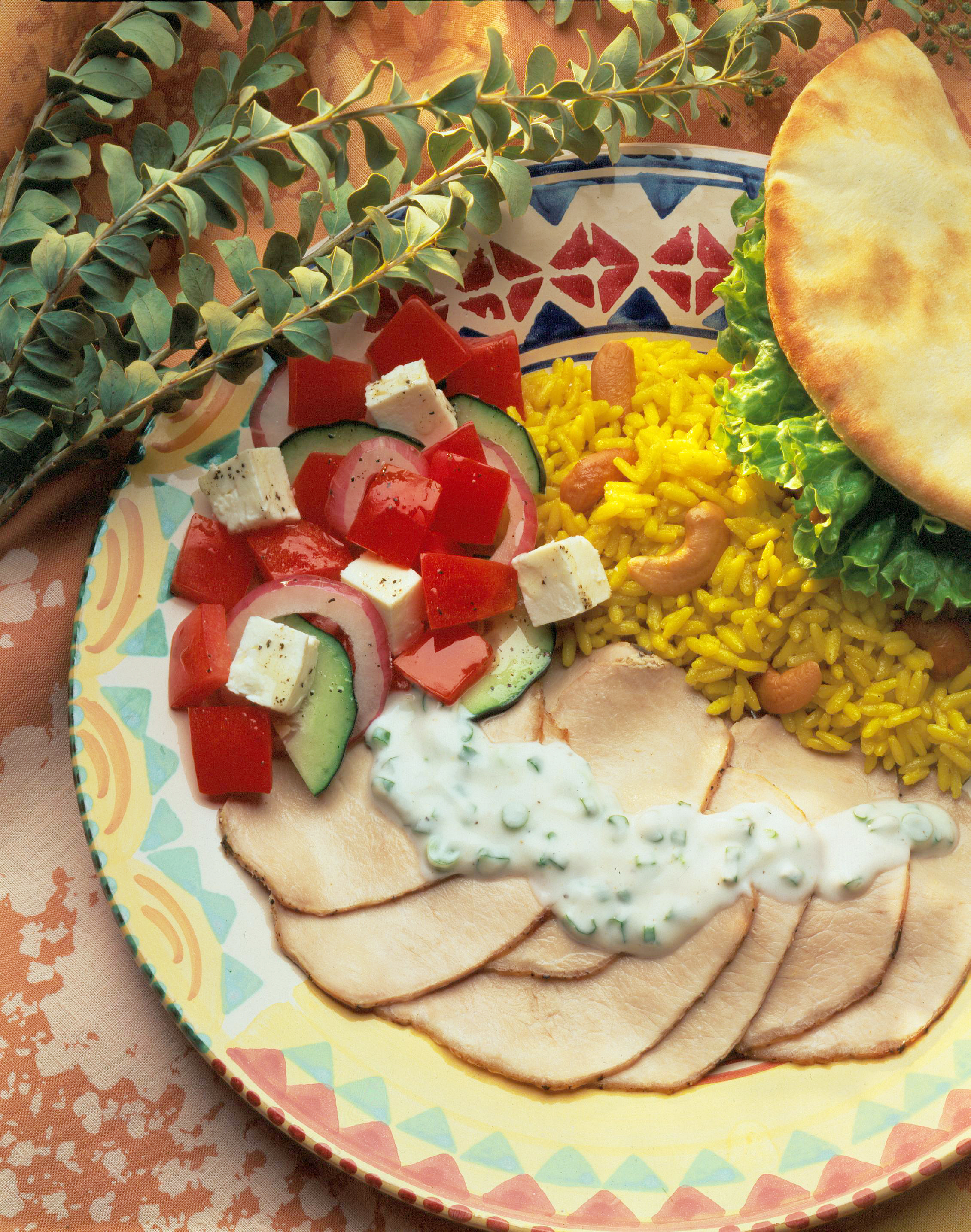 Grilled Greek Style Pork Roast With Yogurt Sauce