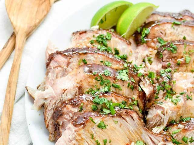 Asian Slow Cooker New York Pork Roast