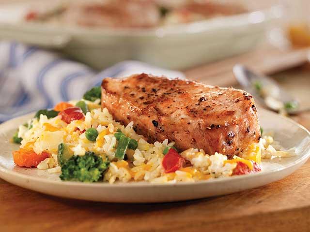 Easy Cheesy Pork Chop And Rice Casserole Pork Recipes