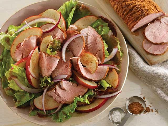 Five-Spice Pork and Apple Salad