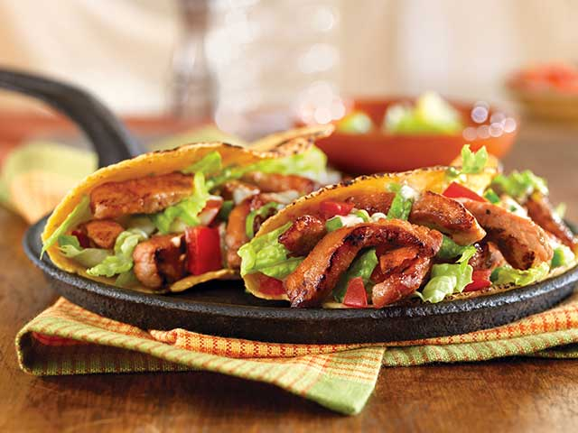 Honey and Spice Sauteed Pork Hand Tacos