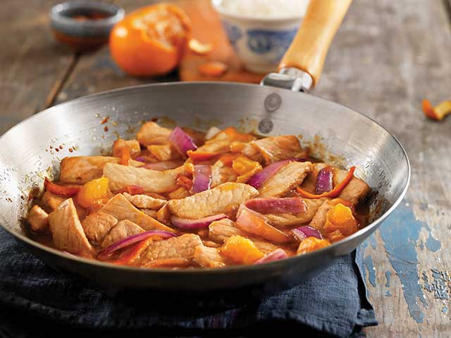 Tangerine Pork Stir-Fry