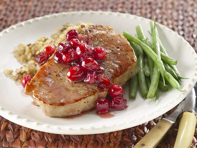 Autumn Glazed Pork Chops
