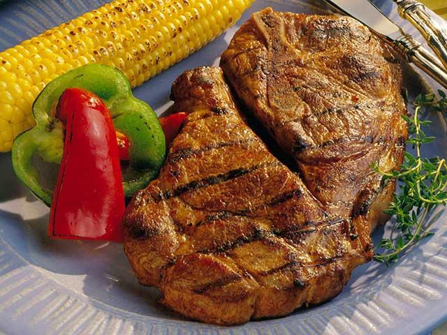 Grilled Honey-Soy Pork Steaks
